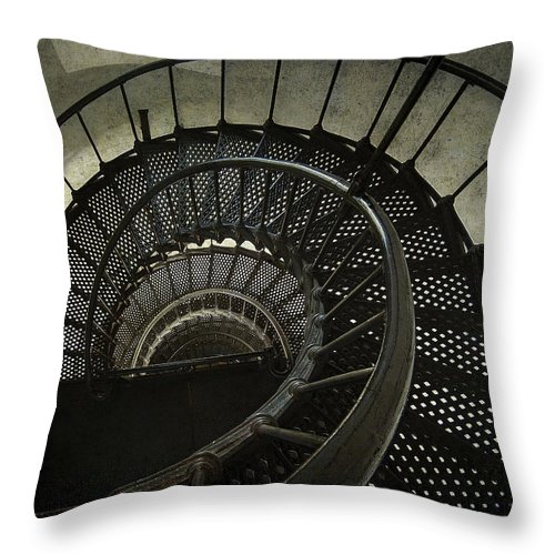 Nautilus Throw Pillow featuring the photograph Nautilus Stairway by Daniel Hagerman