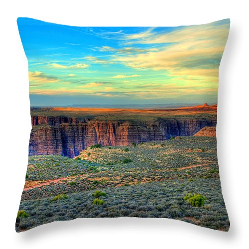 Diana Graves Photography Throw Pillow featuring the photograph Navajo Sunset by K D Graves