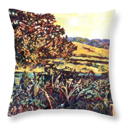Landscape Throw Pillow featuring the painting Near Childress by Kendall Kessler
