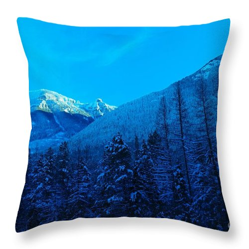 Mountains Throw Pillow featuring the photograph Near Fernie British Columbia by Jeff Swan