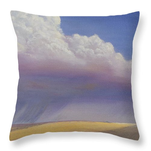 Landscape Throw Pillow featuring the painting Nebraska Vista by Jerry McElroy