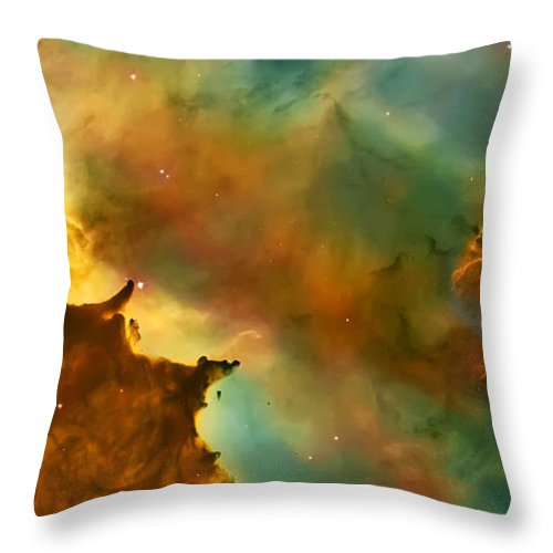 Nasa Images Throw Pillow featuring the photograph Nebula Cloud by Jennifer Rondinelli Reilly - Fine Art Photography
