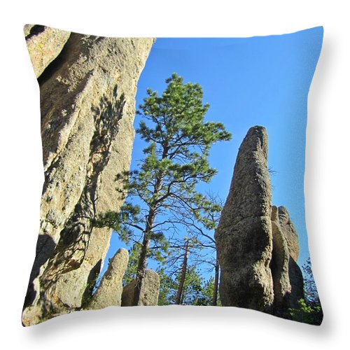 Needles Throw Pillow featuring the photograph Needles by Crystal Loppie