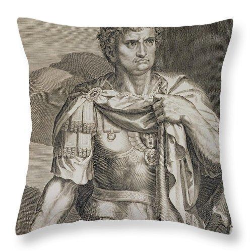 Nero Claudius Caesar Emperor Of Rome Throw Pillow