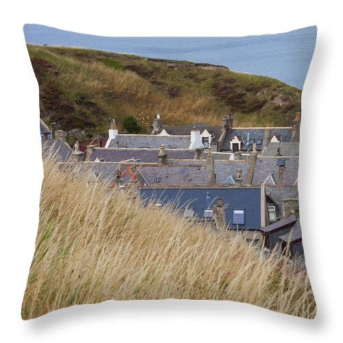 Portessie Throw Pillow featuring the photograph Nestled by Diane Macdonald