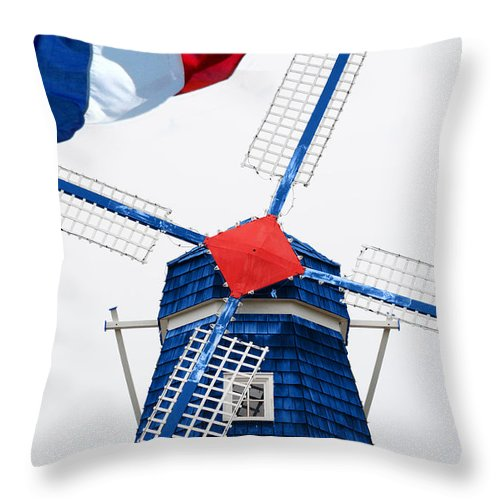 Netherland Throw Pillow featuring the photograph Netherland Windmill by Jost Houk