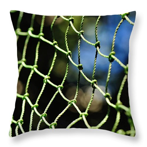 Photography Throw Pillow featuring the photograph Netting - Abstract by Kaye Menner