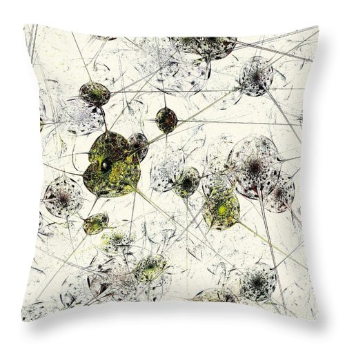 Malakhova Throw Pillow featuring the digital art Neural Network by Anastasiya Malakhova