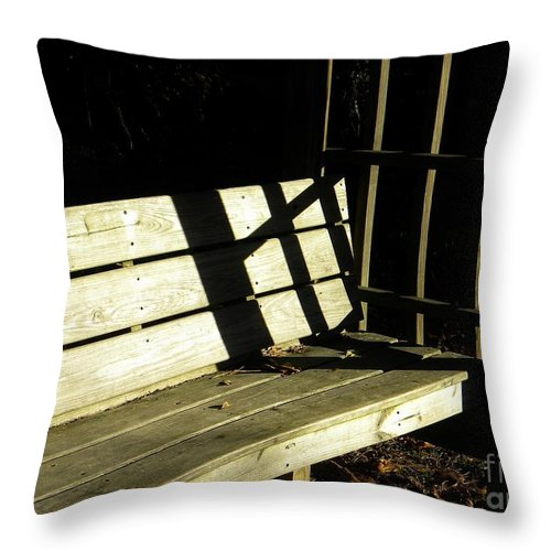 Cross Throw Pillow featuring the photograph Never Alone by Matthew Seufer