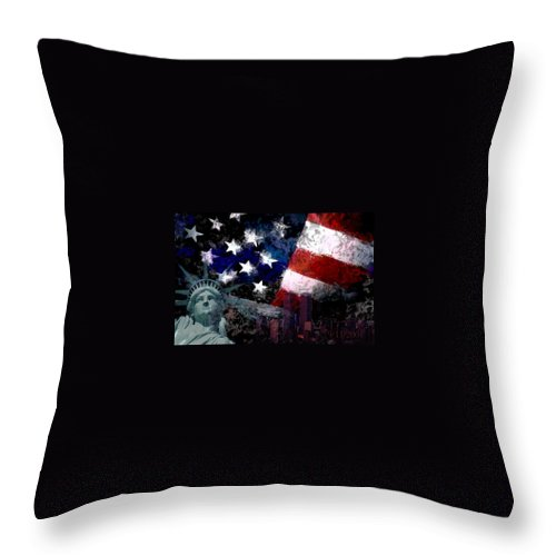 911 Throw Pillow featuring the photograph Never Forget by Andrew Giovinazzo