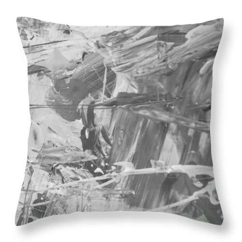 Original Throw Pillow featuring the painting Nevertheless by Artist Ai