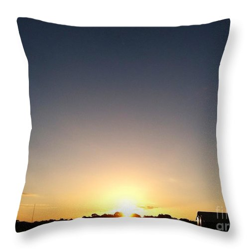 Landscape Throw Pillow featuring the photograph New Day Of Hope by Melissa Darnell Glowacki