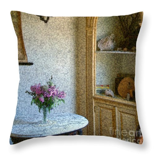 Antiques Throw Pillow featuring the painting New England Florentine by RC DeWinter