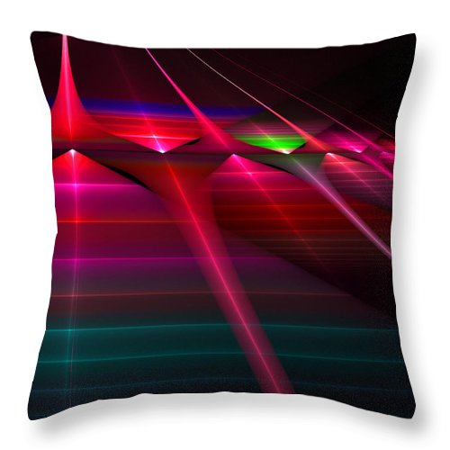 New Throw Pillow featuring the digital art New Gate by Brian Kenney