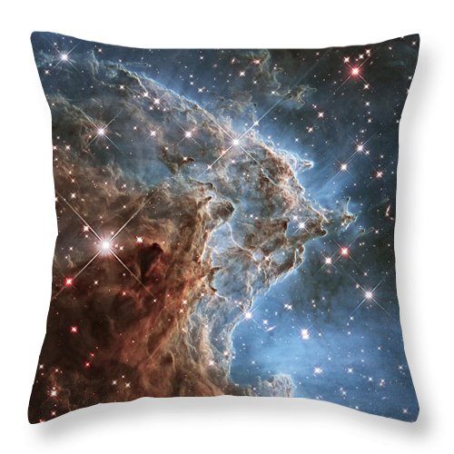 3scape Throw Pillow featuring the photograph New Hubble Image Of Ngc 2174 by Adam Romanowicz