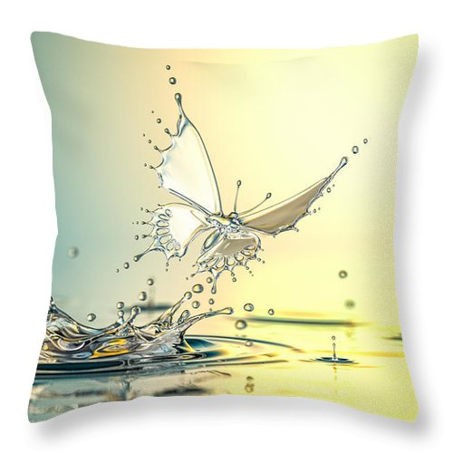 Spray Throw Pillow featuring the photograph New Life by Blackjack3d