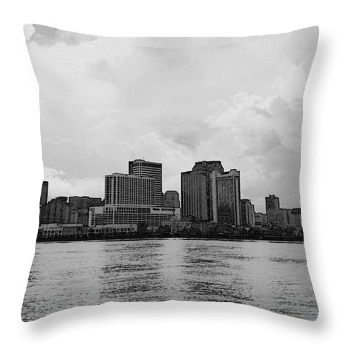 New Orleans Throw Pillow featuring the photograph New Orleans by Paul Wilford