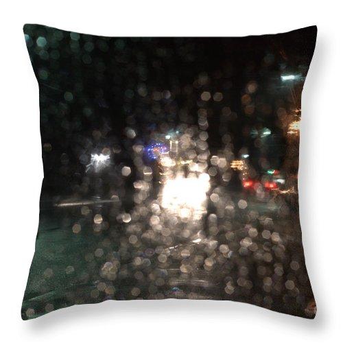 Heavy Rain Throw Pillow featuring the photograph New Year Heavy Rainstorm 2015 by Steven Macanka
