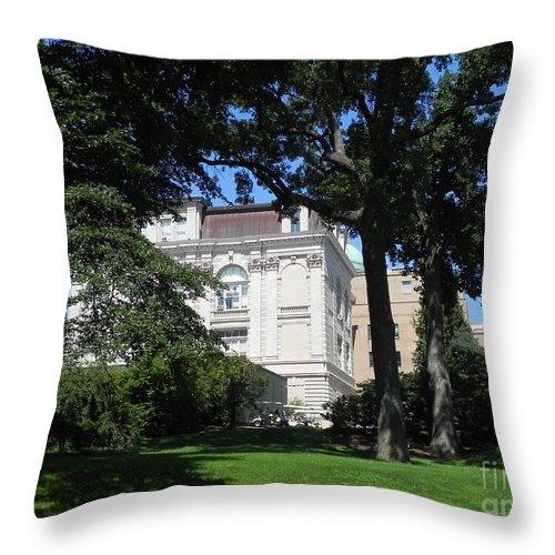 Photography Throw Pillow featuring the photograph New York Botanical Gardens by Chrisann Ellis
