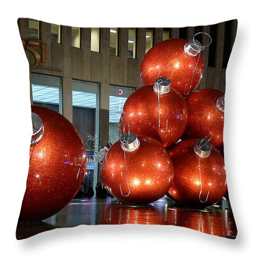 New York City Throw Pillow featuring the photograph New York City Baubles 2 by Richard Reeve