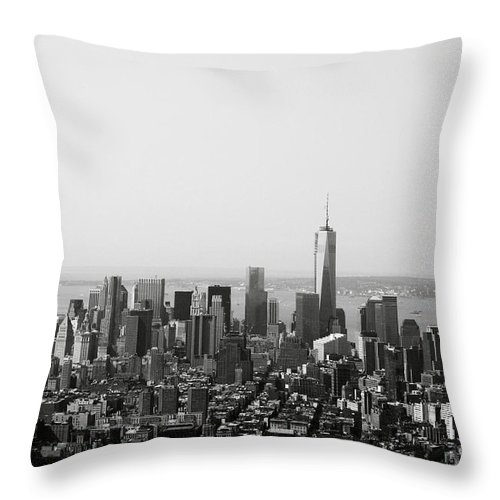 New York Throw Pillow featuring the photograph New York City by Linda Woods
