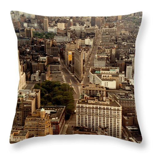 New York Throw Pillow featuring the photograph New York City by Nancie Johnson