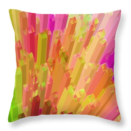 Abstract Throw Pillow featuring the photograph New York City On A Bright And Sunny Day by Robert Burns