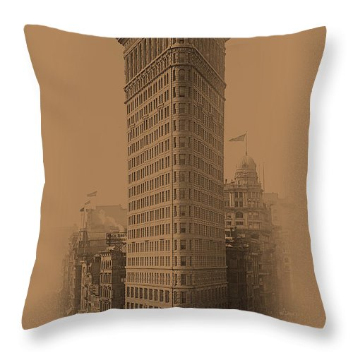 New York Throw Pillow featuring the photograph New York Landmarks 3 by Andrew Fare