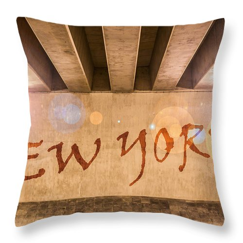 Abstract Throw Pillow featuring the photograph New York by Semmick Photo