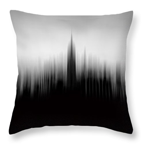 Empire State Building Throw Pillow featuring the photograph New York Skyline Abstract by Az Jackson