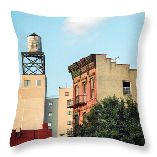 Water Tower Throw Pillow featuring the photograph New York Water Tower 3 by Gary Heller