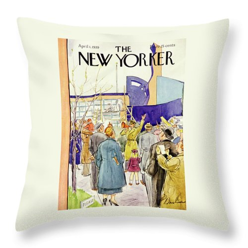 New Yorker April 1 1939 Throw Pillow For Sale By Perry Barlow