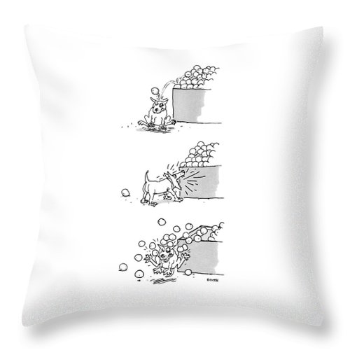 New Yorker April 4th, 1988 Throw Pillow
