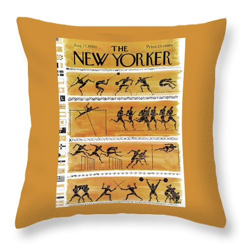 New Yorker August 27th, 1960 Throw Pillow