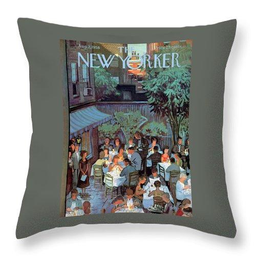 New Yorker August 2nd, 1958 Throw Pillow
