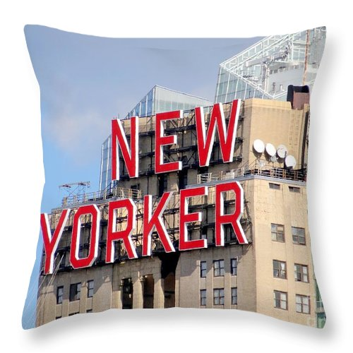 New York City Throw Pillow featuring the photograph New Yorker by Ed Weidman