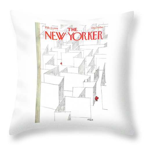 New Yorker February 13th, 1978 Throw Pillow