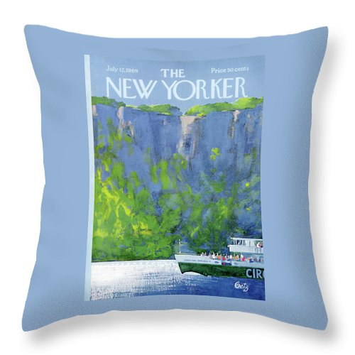 New Yorker July 12th, 1969 Throw Pillow