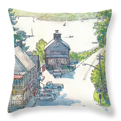 Rural Throw Pillow featuring the painting New Yorker July 4th, 1983 by Arthur Getz