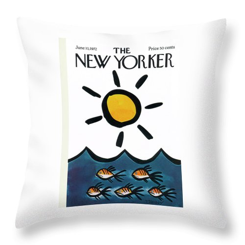 New Yorker June 10th, 1972 Throw Pillow