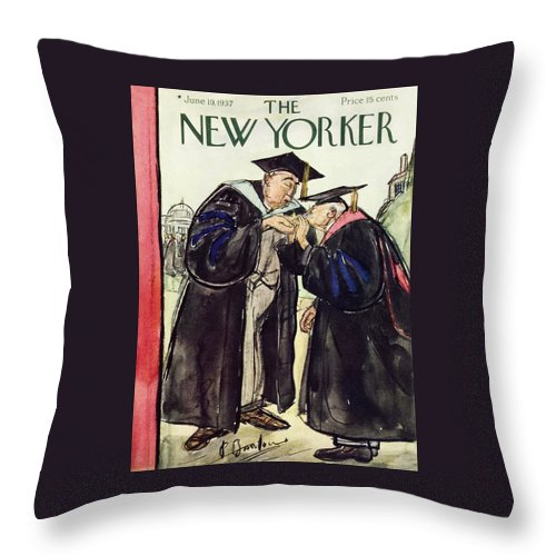 New Yorker June 19 1937 Throw Pillow For Sale By Perry Barlow