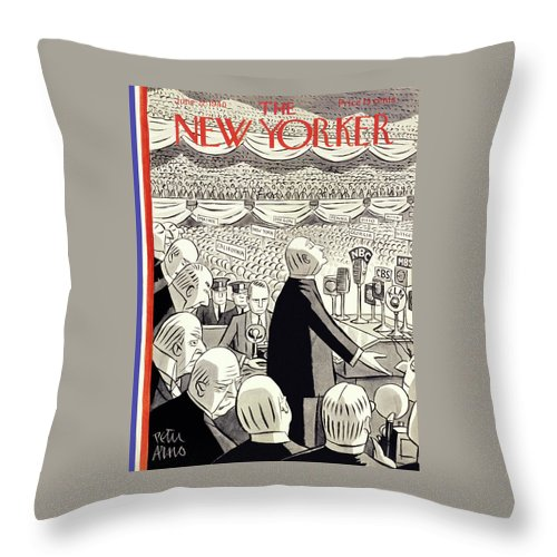 Religion Throw Pillow featuring the painting New Yorker June 22 1940 by Peter Arno