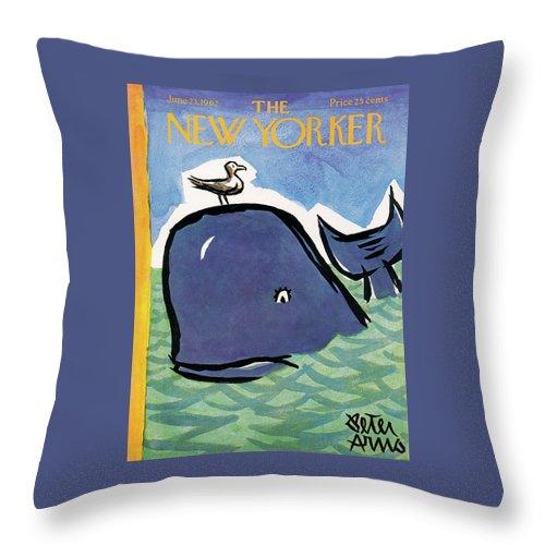 New Yorker June 23rd, 1962 Throw Pillow