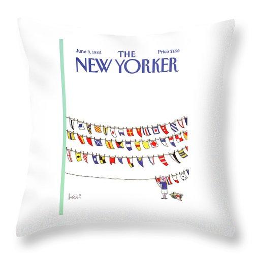 New Yorker June 3rd, 1985 Throw Pillow