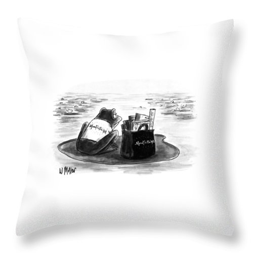 New Yorker March 5th, 1990 Throw Pillow