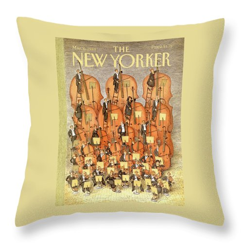 New Yorker March 6th, 1989 Throw Pillow