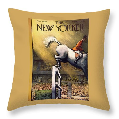 New Yorker November 9th, 1957 Throw Pillow