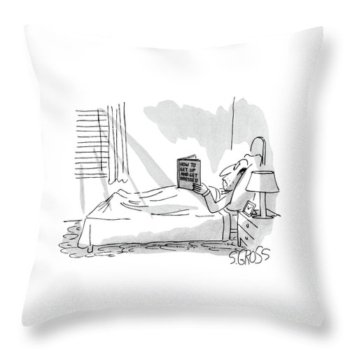 Psychology Throw Pillow featuring the drawing New Yorker September 1st, 1980 by Sam Gross