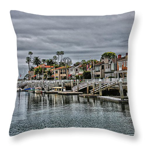 Newport Throw Pillow featuring the photograph Newport Harbor by Stefan H Unger