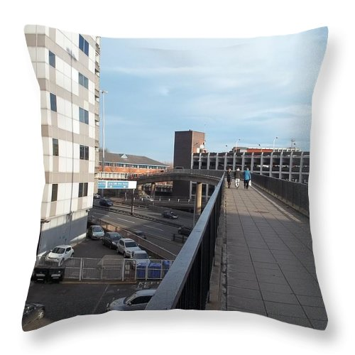 Newport Throw Pillow featuring the photograph Newport Raised Footpath by James Potts
